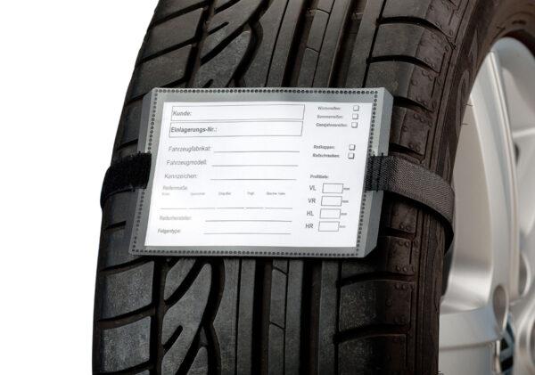 Reifenanhänger Set Premium – Mit Klettschlaufe