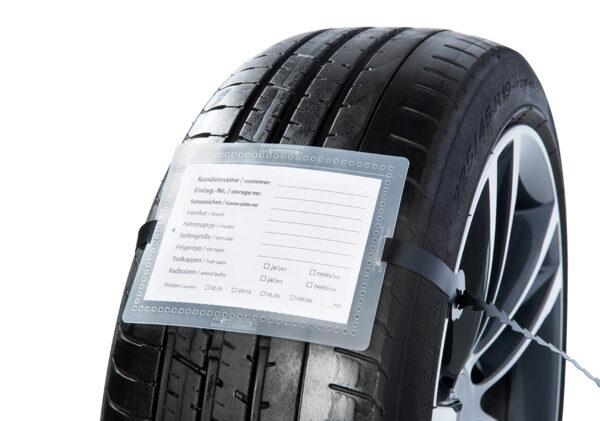 Reifenanhänger Set Premium  – Mit Rasterschlaufe
