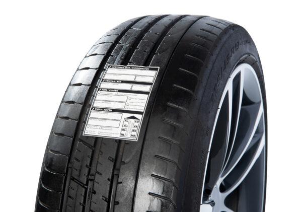 Reifeneinlagerungs-Etikett